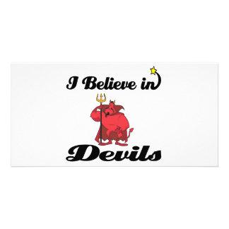 i believe in devils customised photo card
