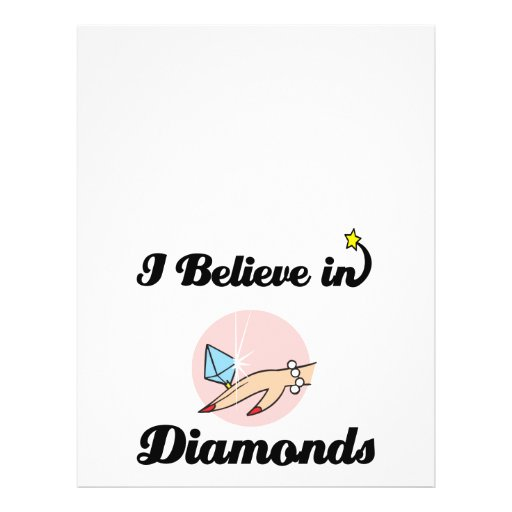 i believe in diamonds flyer design