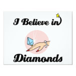 i believe in diamonds personalised announcements