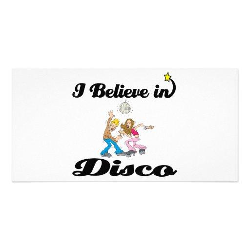 i believe in disco picture card