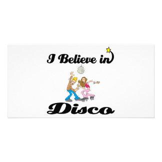 i believe in disco photo greeting card