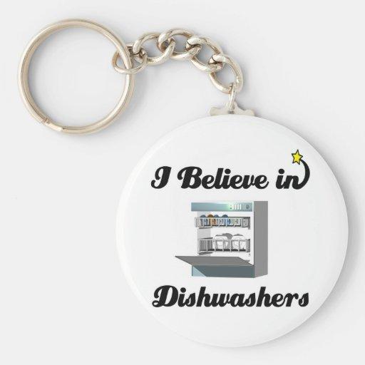 i believe in dishwashers key chain