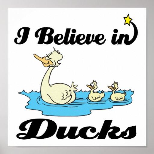 i believe in ducks posters