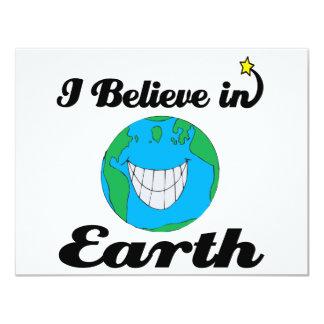 i believe in earth 11 cm x 14 cm invitation card