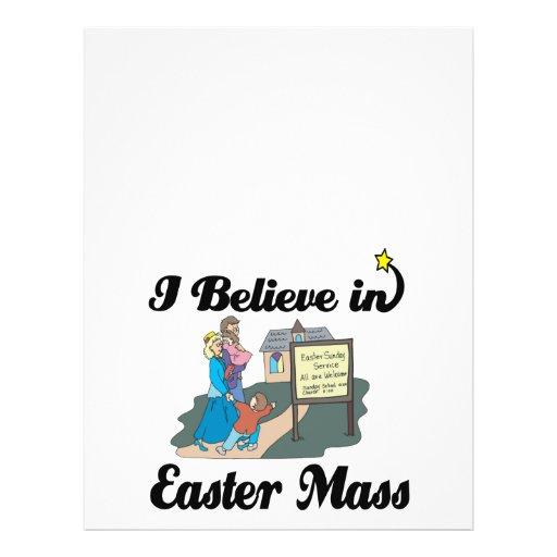 i believe in easter mass flyer design