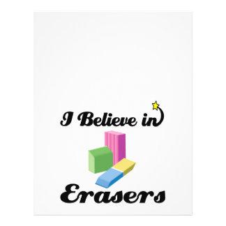 i believe in erasers flyer design
