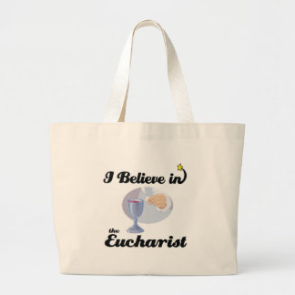 i believe in eucharist tote bag