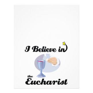 i believe in eucharist flyer design