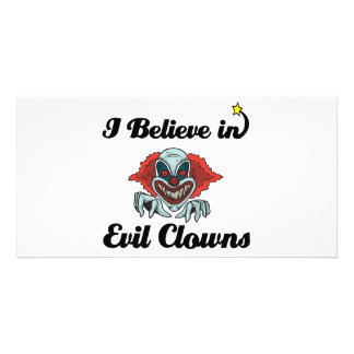 i believe in evil clowns photo cards