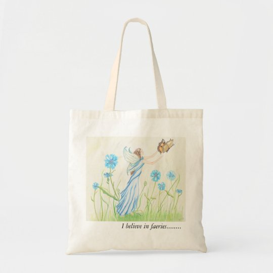 I believe in faeries tote bag..