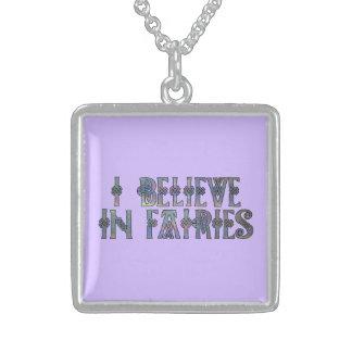 I Believe In Fairies Celtic Knot Design Pendants