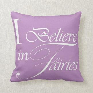 I believe in fairies Cushion - Purple