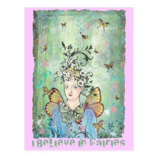 I believe in fairies postcard