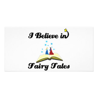 i believe in fairy tales customised photo card