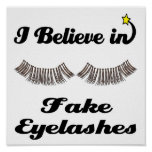 i believe in fake eyelashes