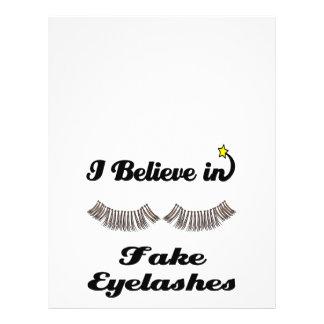 i believe in fake eyelashes 21.5 cm x 28 cm flyer