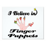 i believe in finger puppets custom invitations