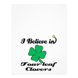 i believe in four-leaf clovers 21.5 cm x 28 cm flyer