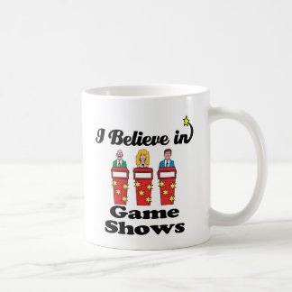 i believe in game shows coffee mug