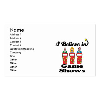 i believe in game shows pack of standard business cards