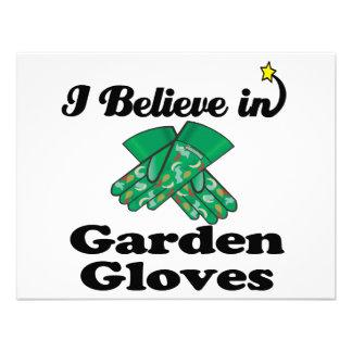 i believe in garden gloves custom announcements