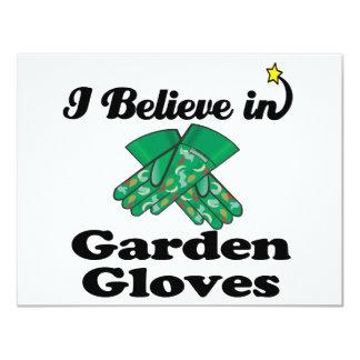i believe in garden gloves 11 cm x 14 cm invitation card