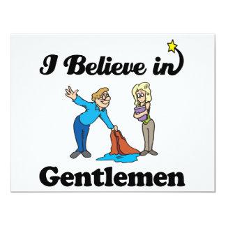 i believe in gentlemen custom invitations