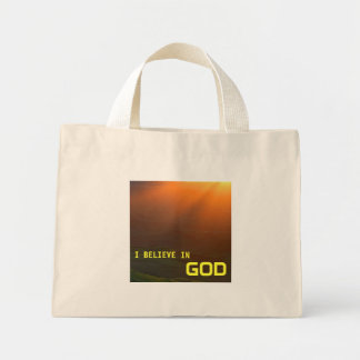 I Believe in God Mini Tote Bag