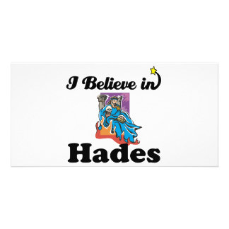 i believe in hades photo card