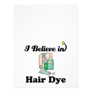 i believe in hair dye flyer