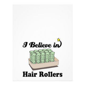 i believe in hair rollers 21.5 cm x 28 cm flyer