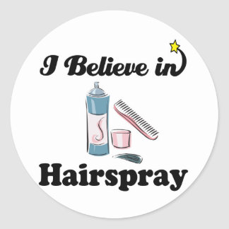 i believe in hairspray classic round sticker
