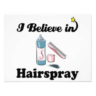 i believe in hairspray custom announcements