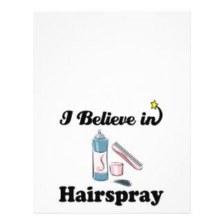i believe in hairspray full color flyer