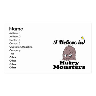 i believe in hairy monsters pack of standard business cards