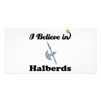 i believe in halberds photo card