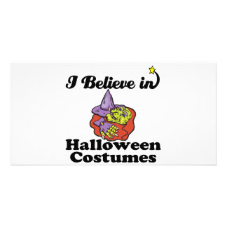 i believe in halloween costumes picture card