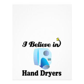i believe in hand dryers 21.5 cm x 28 cm flyer