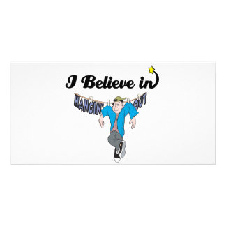 i believe in hangin out photo card