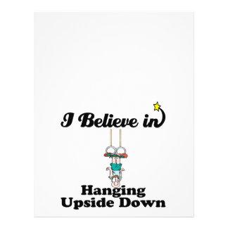 i believe in hanging upside down 21.5 cm x 28 cm flyer