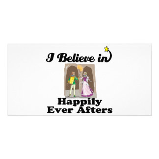 i believe in happily ever afters custom photo card