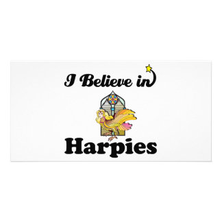 i believe in harpies picture card