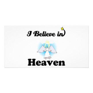 i believe in heaven photo card template