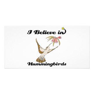 i believe in hummingbirds photo cards