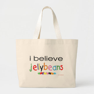 I believe in Jelly Beans Large Tote Bag