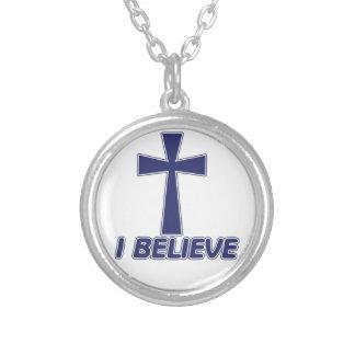 I Believe in Jesus Round Pendant Necklace