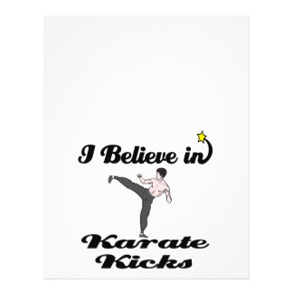i believe in karate kicks 21.5 cm x 28 cm flyer