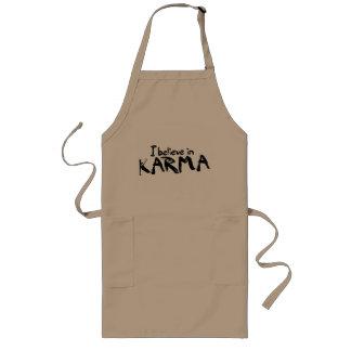 I believe in Karma Long Apron