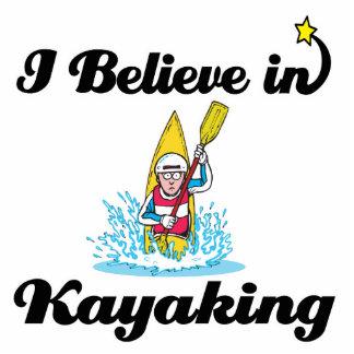 i believe in kayaking standing photo sculpture