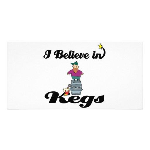 i believe in kegs custom photo card